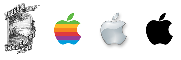 evolutie Apple logo